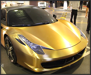 Brushed Gold Ferrari 458