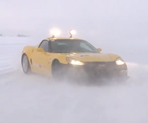 Ice Driving in a Corvette