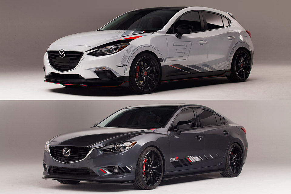Mazda Club Sport 3 and 6 Concepts