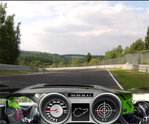 Mercedes SLS AMG Black Series on Nurburgring