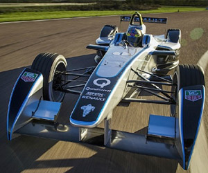 Formula E Electric Race Car: Test Laps