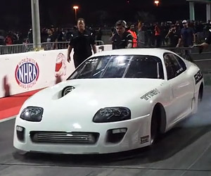 World's Fastest Toyota Supra Hits the Drag Strip