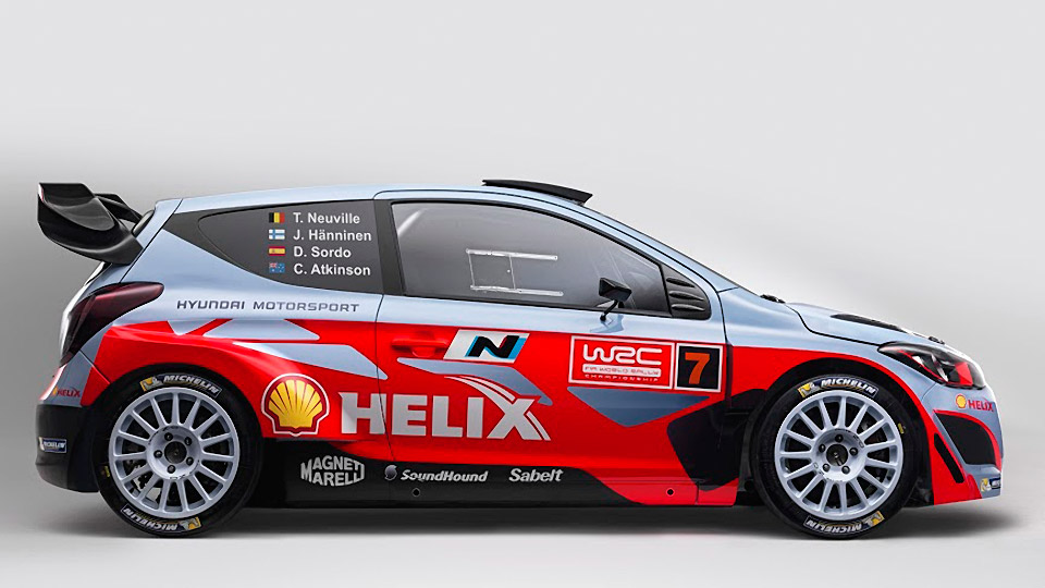 2014 Hyundai i20 WRC Rally Car