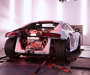 Audi R8 V10 Plus on the Dynamometer