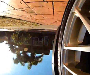Spinning Car Wheel POV Might Make You Ralph