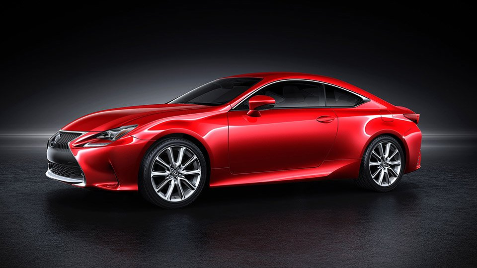 Lexus to Launch RC 350 Coupe in Luminous Red
