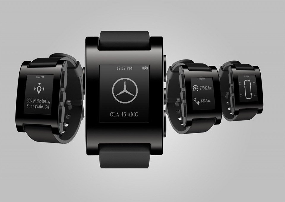 Mercedes-Benz to Offer Pebble Smart Watch App