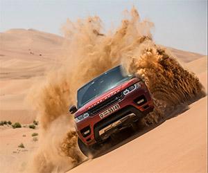 Ranger Rover Sport Crosses Empty Quarter Desert