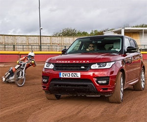 Range Rover Sport Races Speedway World Champion
