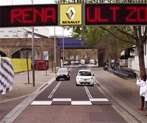 Renault Creates Life-size Slot-car Track in London