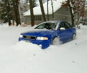 Clearing the Driveway with a B5 Audi S4