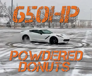 650hp Corvette Does Donuts in the Snow