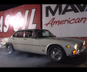 1970s Jaguar XJ Goes Drag Racing