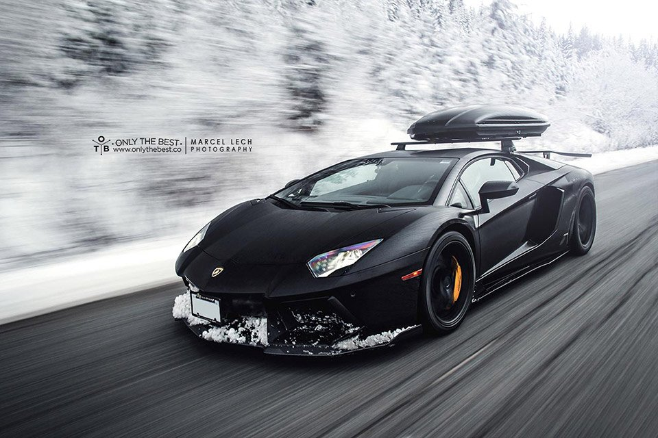 Lamborghini Aventador Ready For Winter