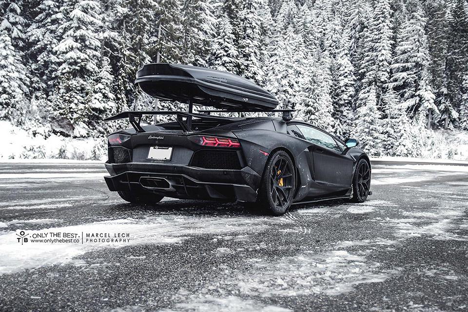 Lamborghini Aventador Ready For Winter 95 Octane