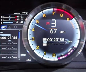 Lexus RC F Coupe's Digital Gauges Hurt Our Brains