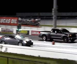Unlikely Drag Race: Cadillac CTS-V vs. Toyota Tundra