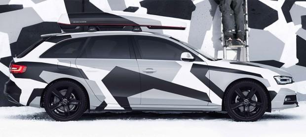 Lose Your Car in the Snow: Audi A4 Jon Olsson Camo - 95 Octane