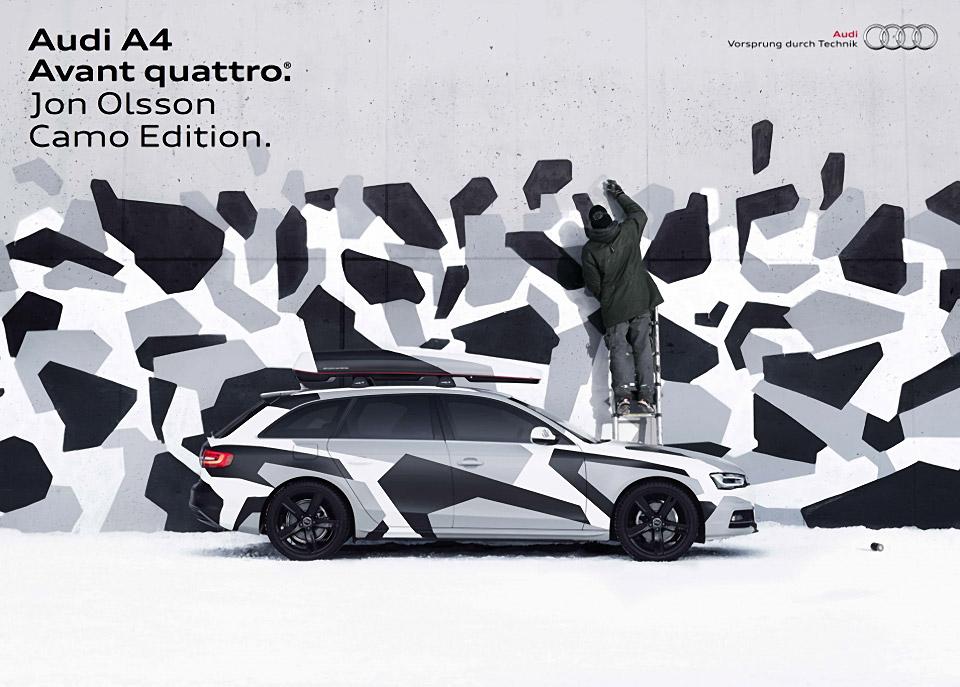 Lose Your Car in the Snow: Audi A4 Jon Olsson Camo