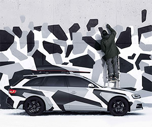 Lose Your Car in the Snow: Audi A4 Jon Olsson Camo