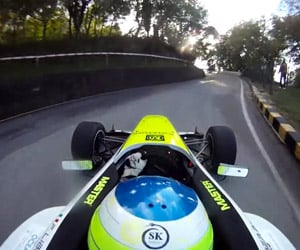 Hillclimbing in a Formula Car