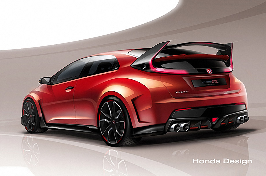 Honda Civic Type R Concept Sketch Revealed