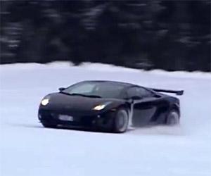 Lamborghini Gallardo Hoons up a Ski Slope