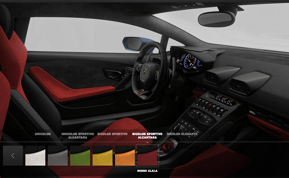 lamborghini hurac n configurator goes online 95 octane. Black Bedroom Furniture Sets. Home Design Ideas