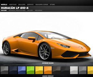 Lamborghini Huracán Configurator Goes Online