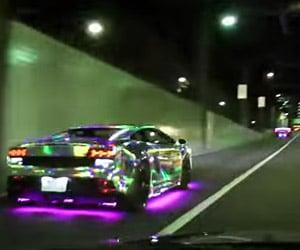 LED Lambos Light up Tokyo