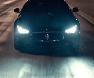 Maserati Ghibli Strikes at 2014 Super Bowl