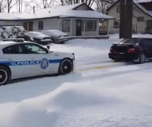 Subaru WRX Bails out Cop Car
