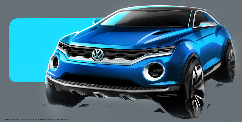 Volkswagen T-ROC Concept Headed to Geneva