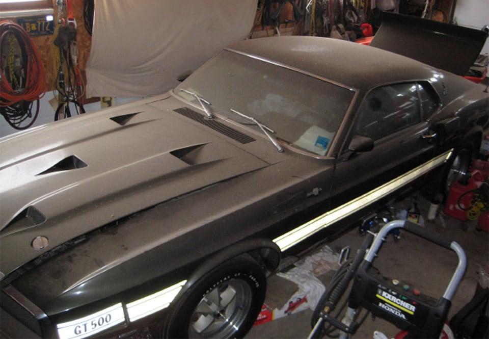 69 mustang shelby gt500 cobra jet found in garage 95 octane for Garage mercedes bron