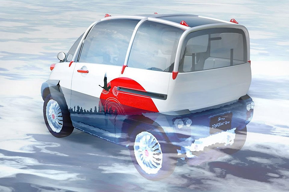 Fomm S Concept One Tiny Floating Electric Car 95 Octane