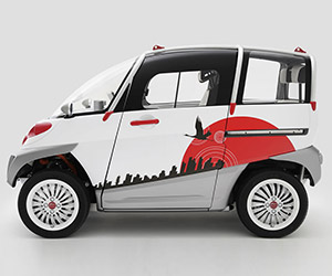 FOMM's Concept One Tiny Floating Electric Car