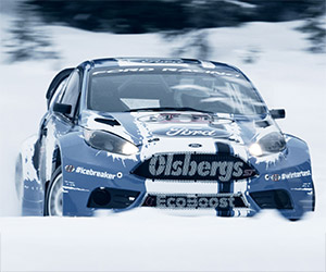 Ford's Rallycross Drivers Train on a Frozen Lake