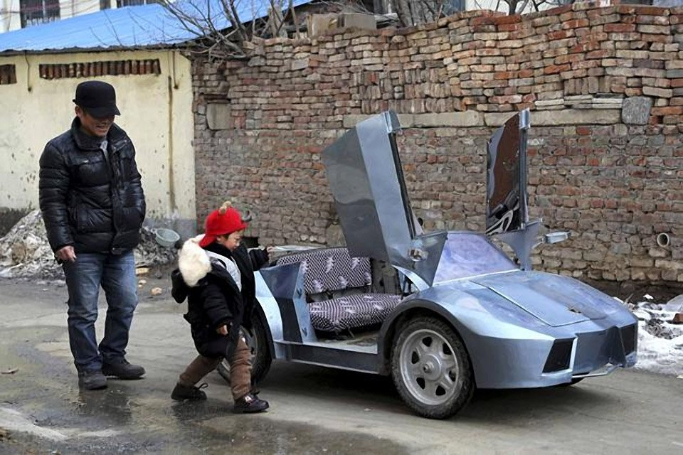Lamborghini Electric Car For Kids >> Grandfather Builds a Mini Lamborghini for Grandson - 95 Octane