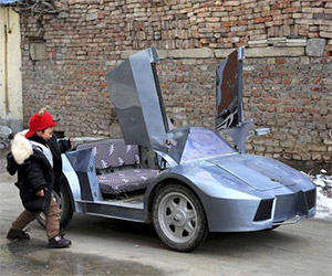 Grandfather Builds a Mini Lamborghini for Grandson