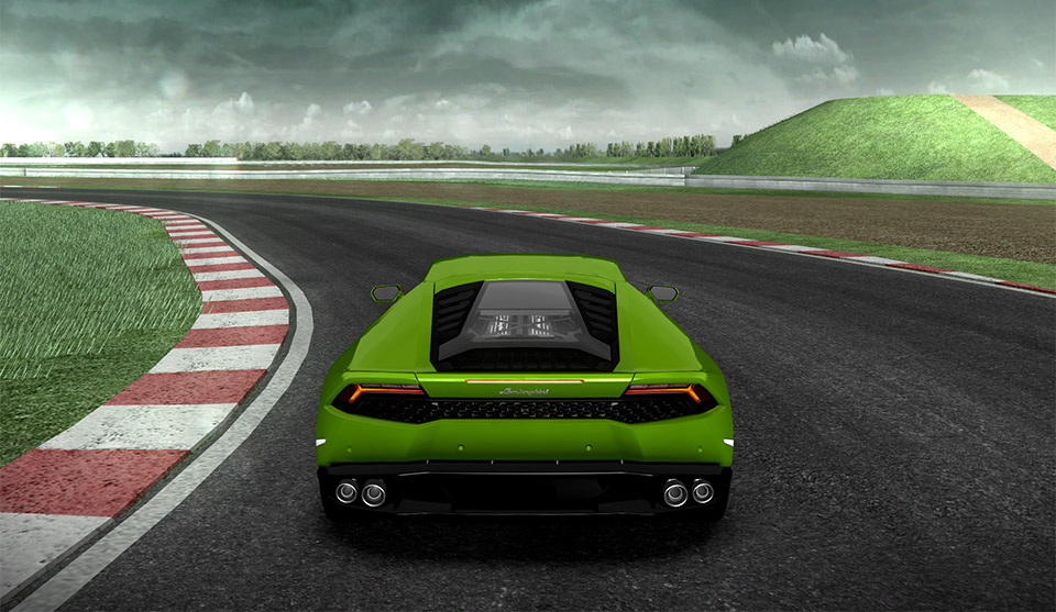 Drive the Lamborghini Huracán, Virtually