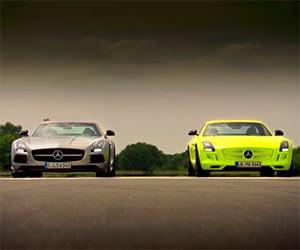 Top Gear: Mercedes SLS AMG Petrol V8 vs. Electric