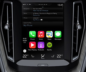 Volvo Unveils Apple iOS Carplay Interface