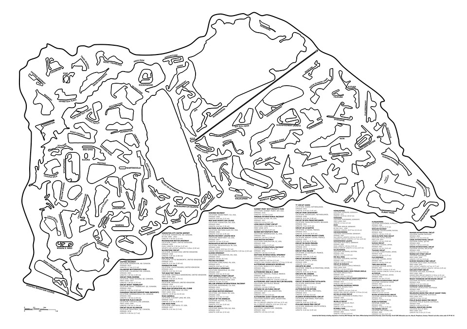 All the Best Racetracks in One Image