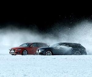 Audi  RS 6 Avant quattro: Ice Track Challenge