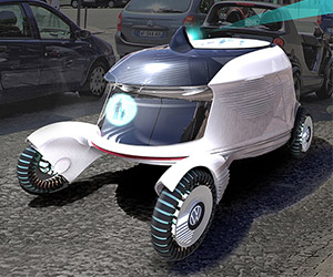 DOMI Concept Car: Work and Sleep on the Road