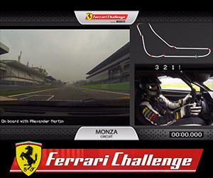 A Lap of the Monza Circuit with a Ferrari Driver