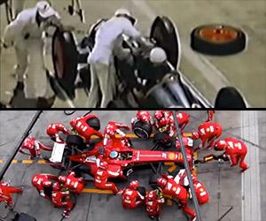 Formula 1 Pit Stops: 1950 vs. 2013