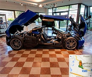 Tour the Pagani Factory in Google Street View