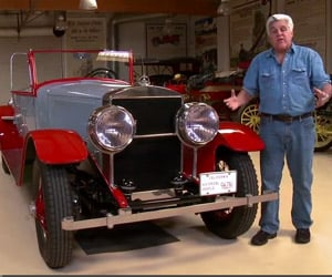 Jay Leno Shows off His Steam-Powered Doble E-20