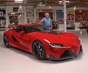 Jay Leno Takes a Look at the Toyota FT-1 Concept